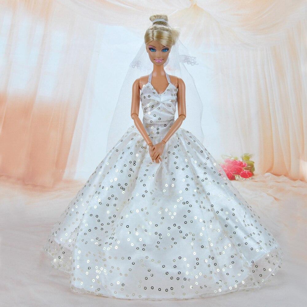 E TING Handmade Pink Princess Wedding Dress Clothes for Barbie Doll ...