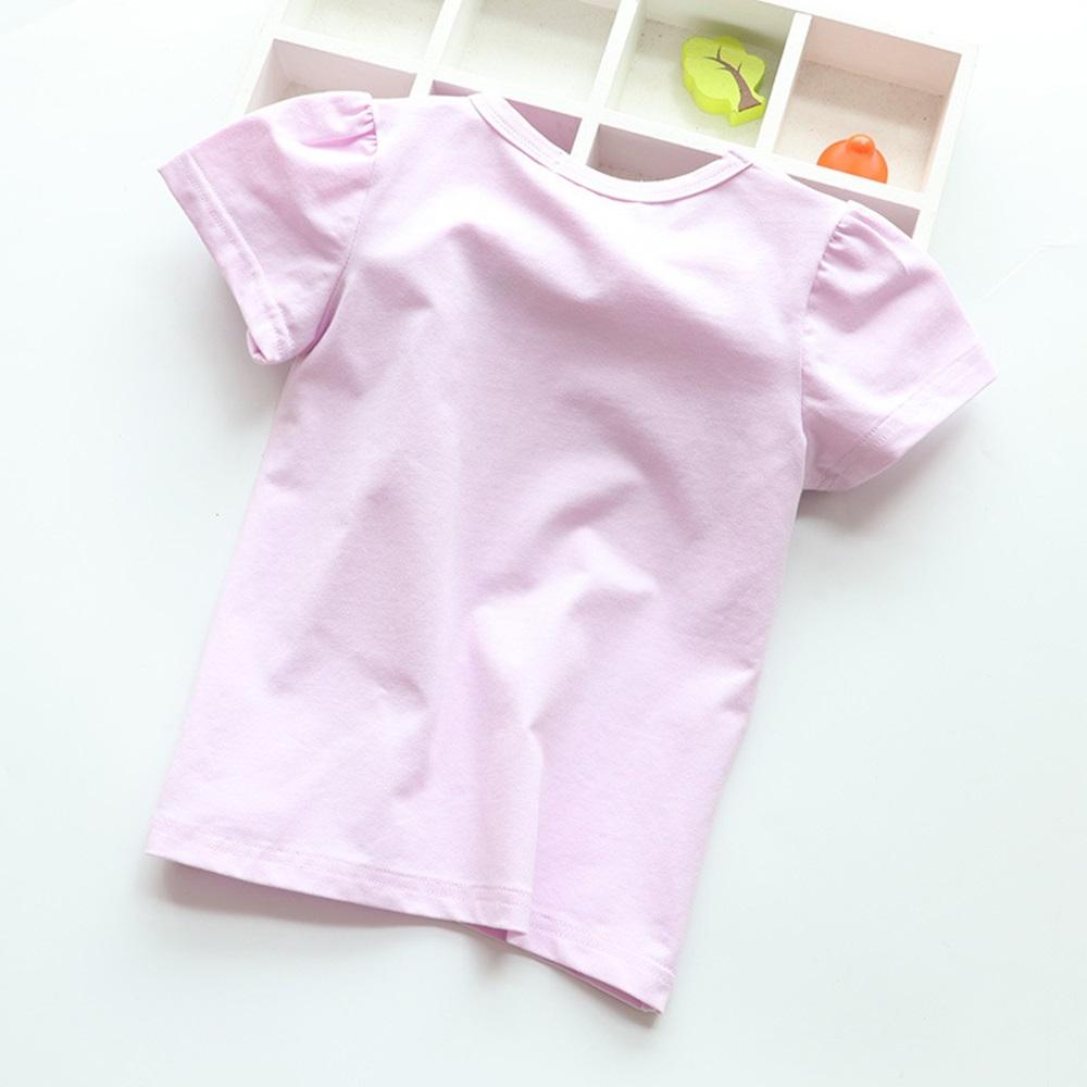New Cotton Kids T-Shirt Children Summer Short Sleeve T-Shirts for Girls Clothes Cat Rabit Butterfly Baby T Shirt Toddler Tops 12