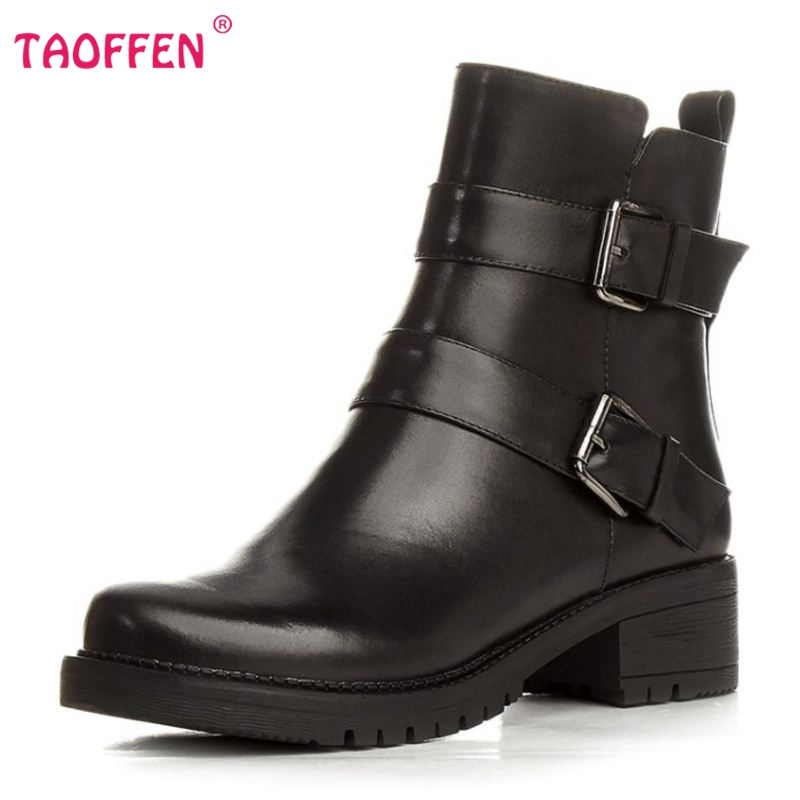 Awesome Leather Motorcycle Boots Women Fashion Women Boots Zip Knee High Boots