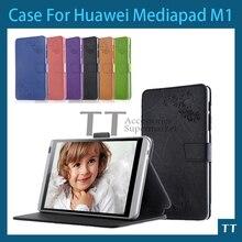 """Original del cuero del soporte cubierta para 8 """" pulgadas huawei mediapad M1 8.0 pulgadas de la tableta, envío gratis"""