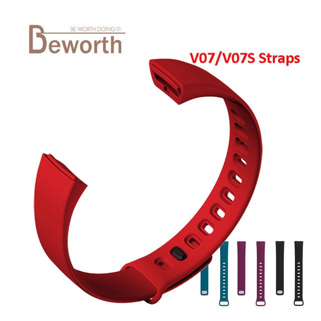 V07S Smart Band Strap Replacement Bracelet Straps Fitness Tracker Heart Rate Wristband Silicone Belt For V07 Bluetooth