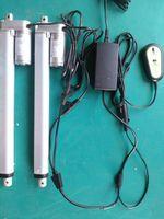 12 v 450mm stroke remote control linear actuator ,Bahung 2pcs tubular linear actuator with control box /power supply 1set