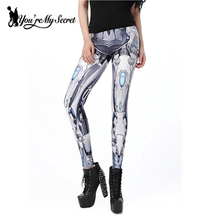 Fashion Design Steampunk Women Pant Star Wars leggins High Waist Mechanical Gear 3d Print Leggings for Women