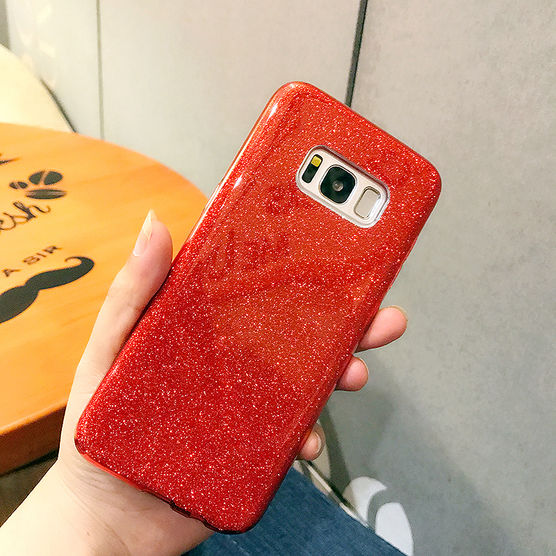 Phone cases For Samsung Galaxy S8 Plus Back Cover Shinning Protective Bumper Bling Glitter 3-Layer Case For Samsung Galaxy S8
