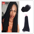 20 Inches Faux Locs Dreadlocks Extension Soft Curly Crochet Twist Braids Hair Extensions Synthetic Havana Mambo For Black Women