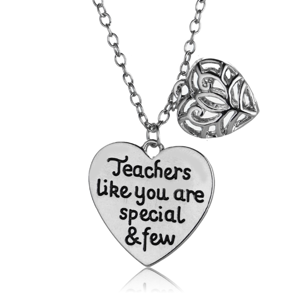 Teachers Jewelry Teachers Like You Are SpecialampFew Heart Pendant Necklace Stainless Steel