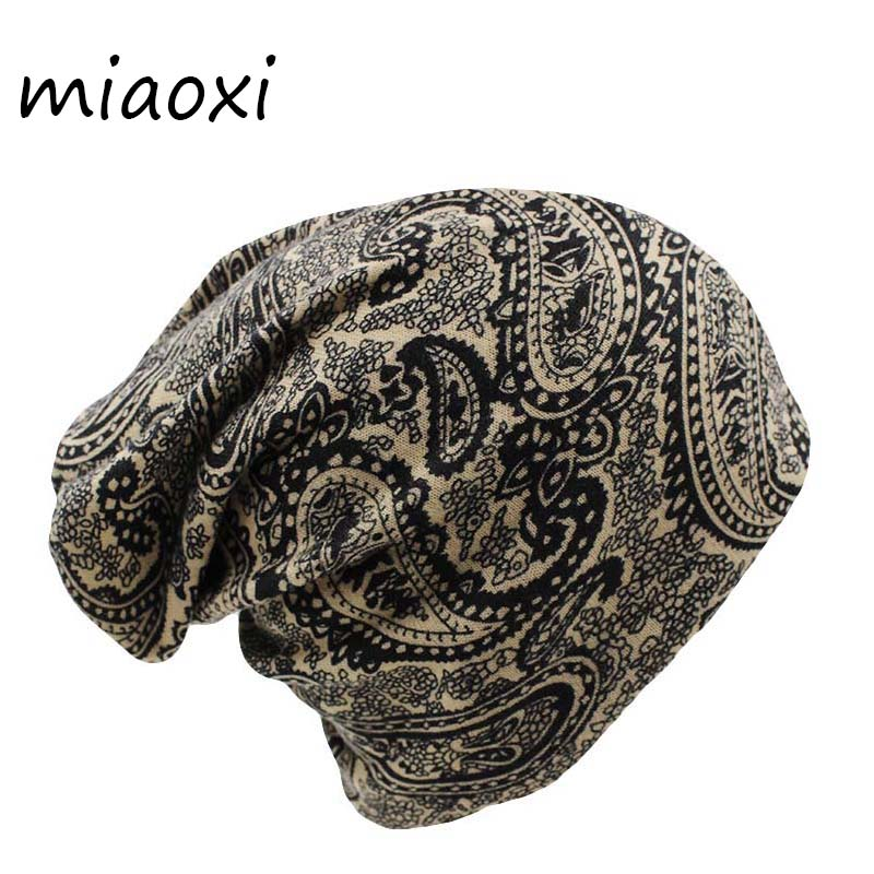 Miaoxi Fashion Knit Two Used Women Hat 4 Colors Scarf Beauty Warm Autumn Female Hats Cap New Casual Beanie Skullies