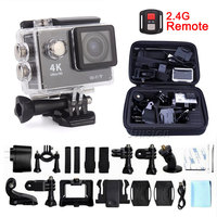 H9R 2.4G Remote HD Yi 4K Mini Wifi Waterproof Action Camera For Go Pro Helmet Sport Outdoor Bike Camcorder Underwater Micro Cam