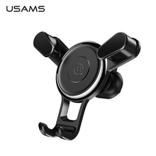USAMS Car Phone Holder for iPhone X 8 7 Gravity Air Vent Mount Holder for Phone in Car Mobile Phone Holder Stand for Samsung S9