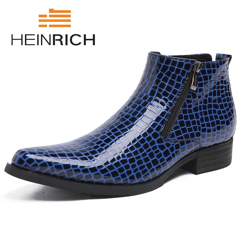 HEINRICH Spring And Autumn Men Shoes Black Pointed Toe Luxury Genuine Leather Formal Male Ankle Boots Chaussure HommeHEINRICH Spring And Autumn Men Shoes Black Pointed Toe Luxury Genuine Leather Formal Male Ankle Boots Chaussure Homme