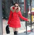Зима куртка хлопок длинная капюшон, женщин зима куртки и пальто приталенный мех воротник - мягкий парки для женщины зима Q0018