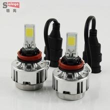 H8 66w COB chip car  LED car headlight 6000LM headlamp LED  headlight  FOR Universal h8 Car LED Headlight Fog light Bulbs
