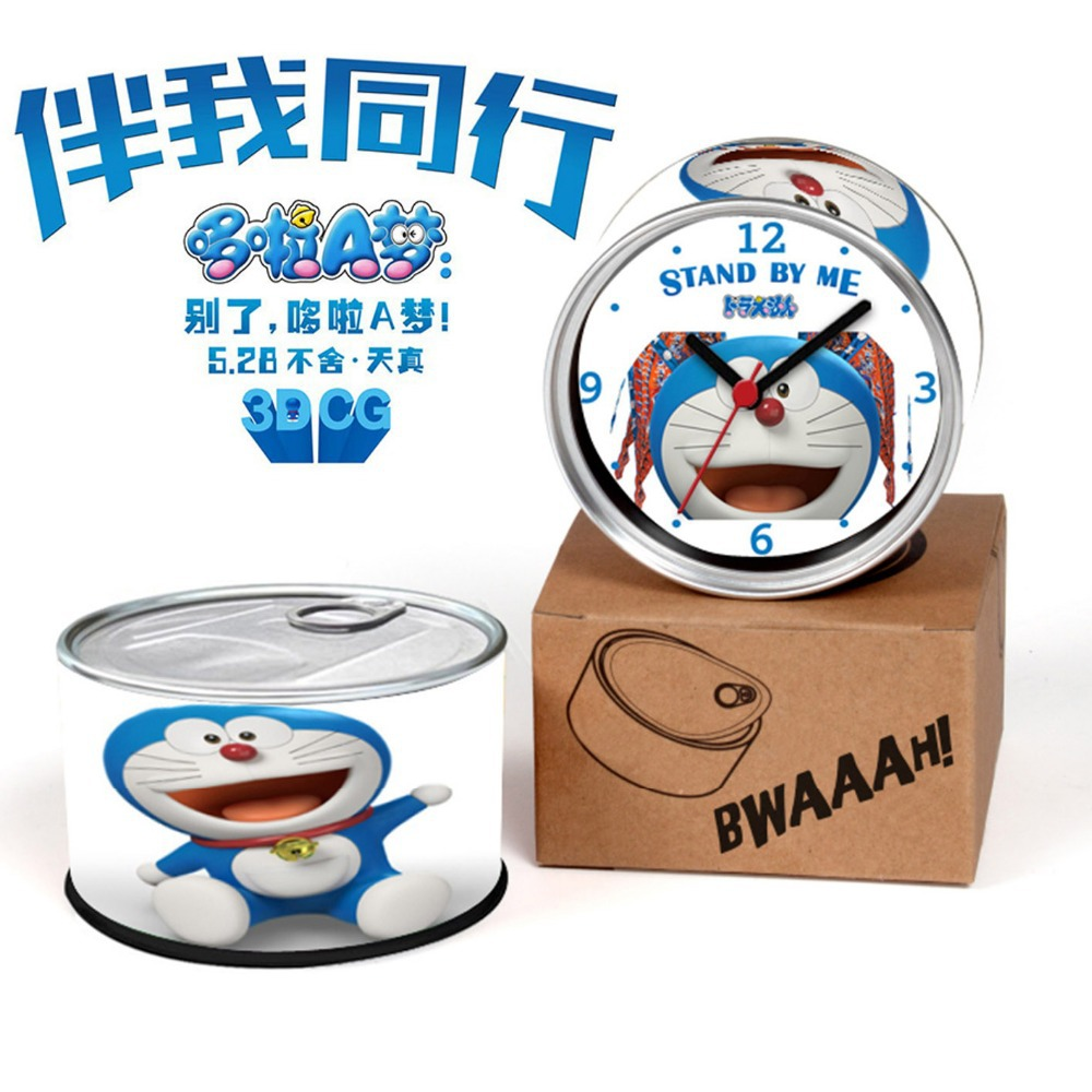Japan Cartoon Doraemon Wall Clock Stand By Me 3D Movie Clock Cartoon Memory 80ths Years Gifts 2015 Doraemon Desk Clock