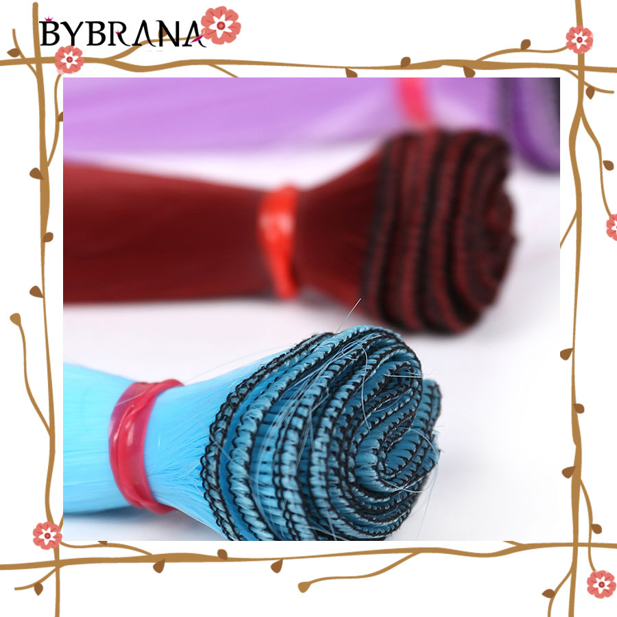 Bybrana Long Straight High Temperature Fiber 15cm*100cm 25cm*100cm BJD SD Wigs DIY Hair For Dolls