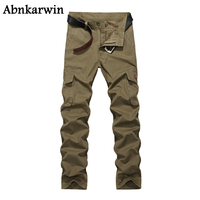 High Quality Men S Cargo Pant Baggy Casual Men Tactical Pant Multi Pocket Military Army Green