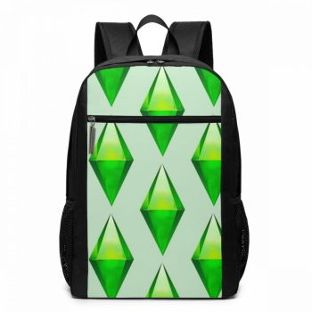 The Sims 4 Game Backpack The Sims Plumbob Backpacks Pattern Multifunctional Bag High quality Men - Women Trendy Travel Bags фото