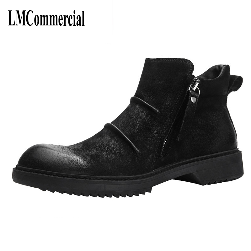 British leather Martin boots, men's boots, trend leather shoes, autumn retro, low army boots, men's Martin shoes, high shoes men martin boots men s high boots korean shoes autumn winter british retro men shoes front zipper leather shoes breathable