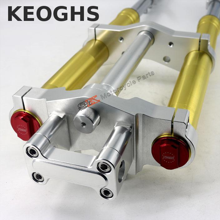 цена на Keoghs Motorcycle Front Shock Absorbers Suspension With Cnc Triple Trees For Honda Zoomer-x Monkey Motorbike Modify