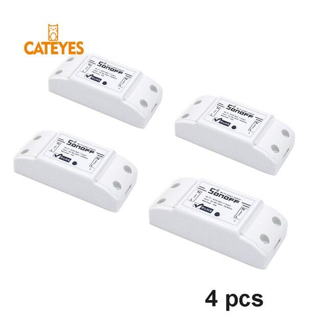 4 unids/lote Wifi inalámbrico interruptor de Control remoto Wifi interruptor inteligente Google controlador casa trabajo con Alexa HWC 10A 220 V