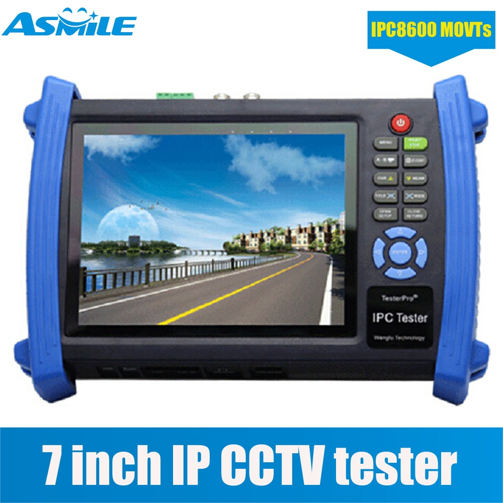 CCTV Tester 7 in 1 7 Capacitive Touch Screen LCD Monitor 1080P HDMI IP Camera Tester AHD/TVI/CVI CCTV Tester POE IPC8600MOVTs