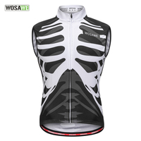 WOSAWE Reflective Cycling Vest Sleeveless Breathable Windproof Men Coat Mountain Bike Jackets Road Bicycle Running Top Clothing