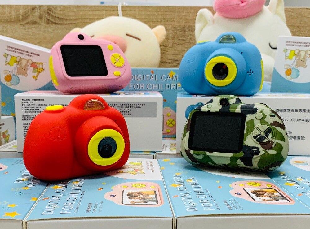 Juguetes para niños 8MP hd Cámara educativa mini cámara fotográfica digital bebé a todo Color Mini videocámara LSR soporte grabadora de vídeo TF