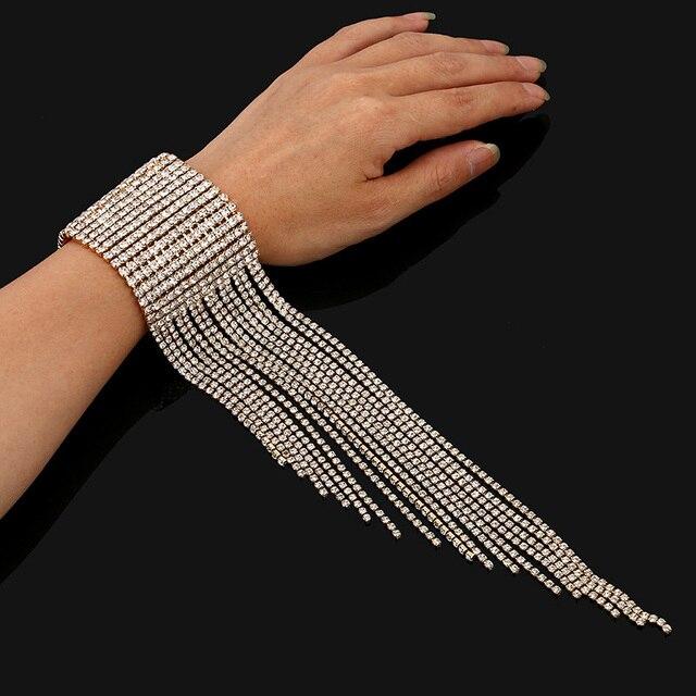 Tel Rhinestone Bracelet For Women Fashion 2018 Statement Wedding Bracelets Charm Woman Luxury Jewelry Whole