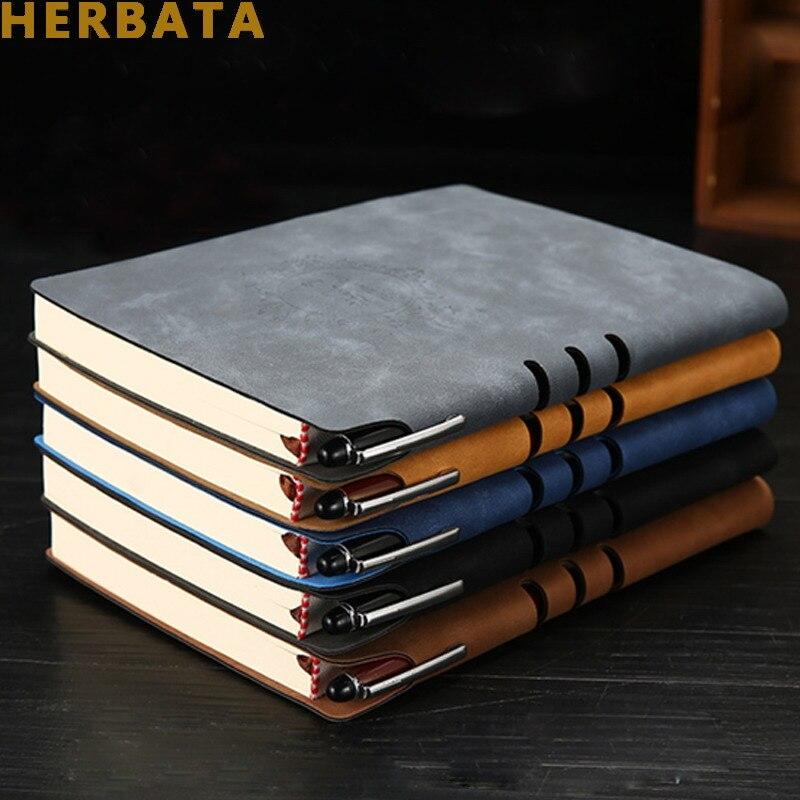 Carnet de notes en cuir carnet de notes planificateur d'affaires carnet de notes Journal pour bureau école papeterie fournitures cadeaux CL-1502