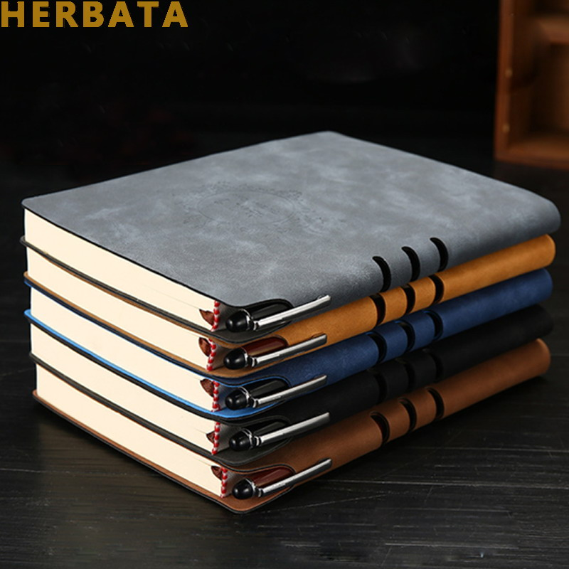 Leather Notebook Notepad Business Planner Notebook Diary Journal Note Book For Office School Stationery Supplies Gifts CL-1502