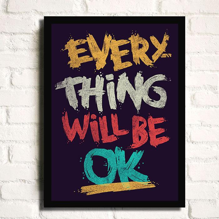 Home Decor Painting EVERYTHING WILL BE OK