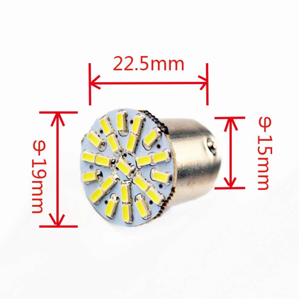 Flytop 1157 22SMD P21W BAY15D LED הנורה רכב אוטומטי קדמי אורות בלם אורות אורות הפעל אורות Parrking מנורת הנורה 12 v