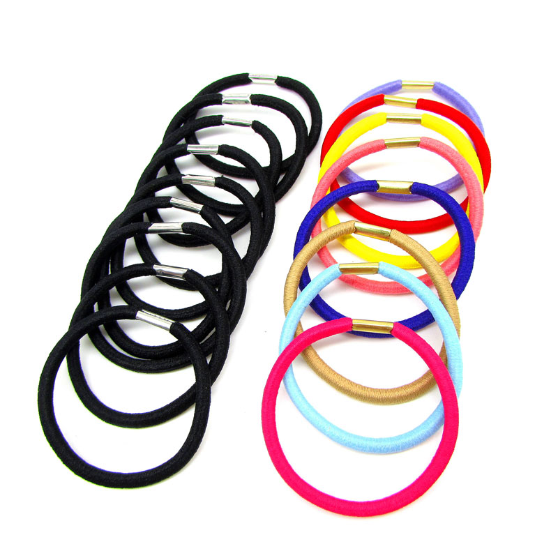 100pcs Head Bands Hair Holders Elasticity Rubber Band Hair Ties For Girl Women Hair Accessories Black Candy Colored Hair Gum