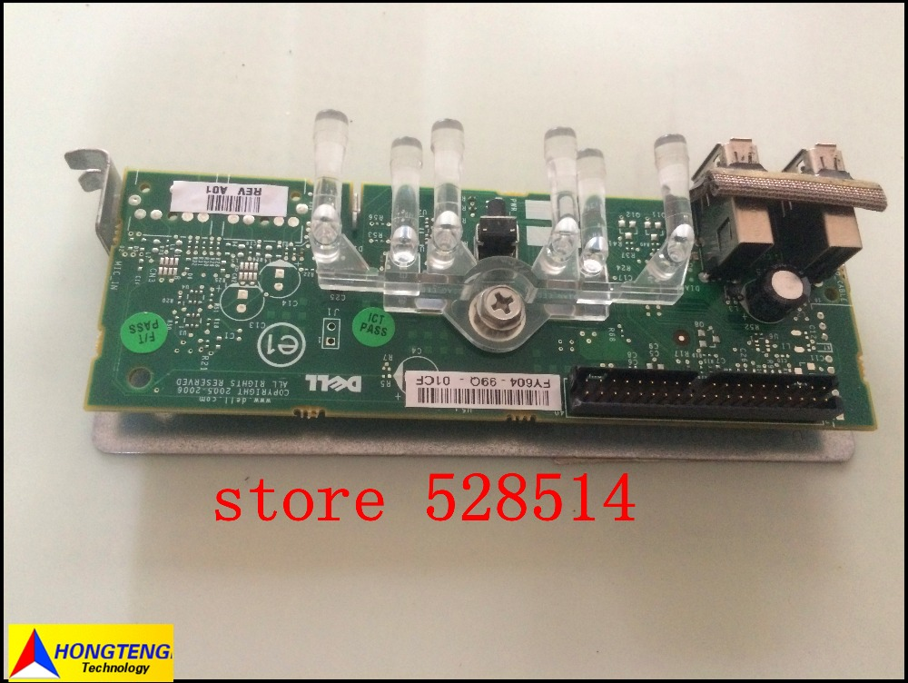 ФОТО Original for DELL PowerEdge T100 Front I/O USB Panel Board GP461 0GP461 CN-0GP461 CN-0FY604 FY604 0FY604 100% TESED