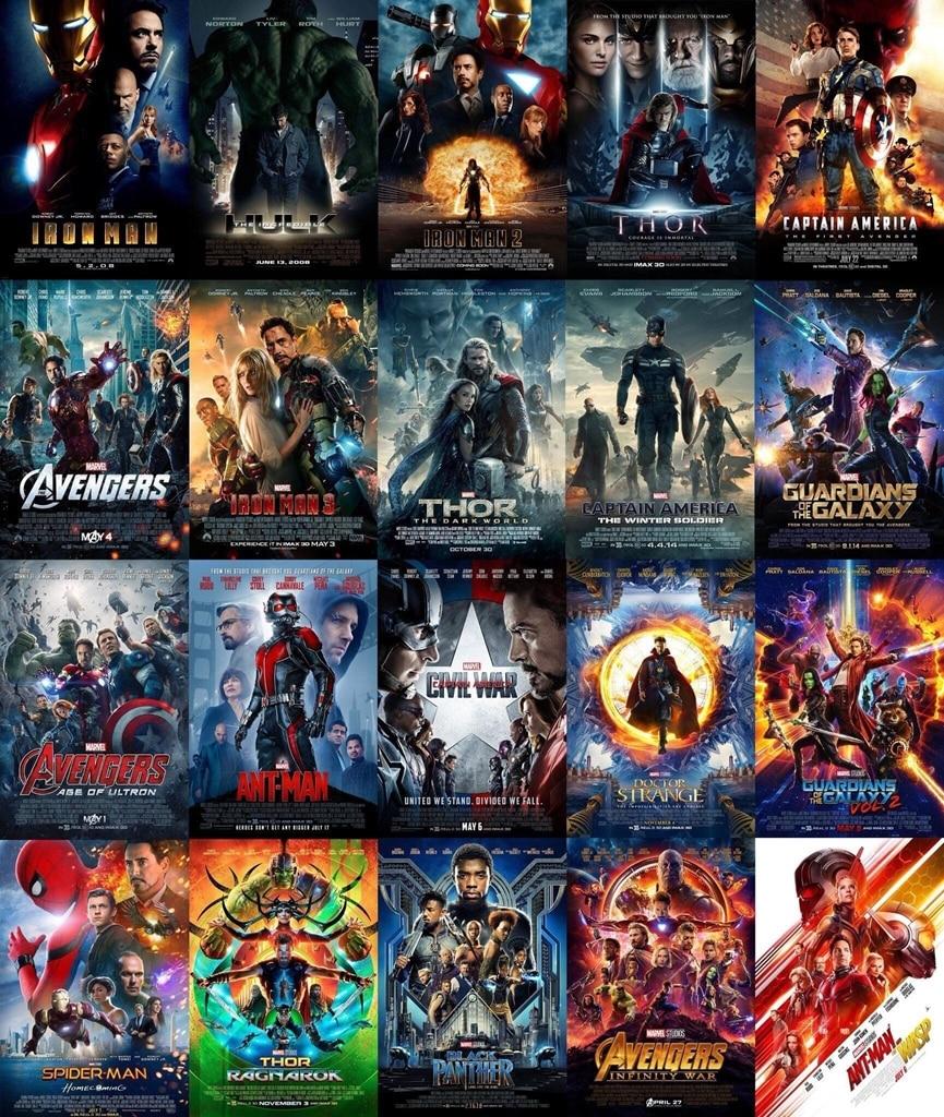 Hot 2008 2019 Marvel Movies 23 Set Poster Marvel Avengers