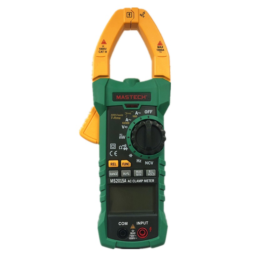 MASTECH MS2015A AutoRange Digital AC 1000A Current Clamp Meter True RMS Multimeter Frequency Capacitance Tester NCV