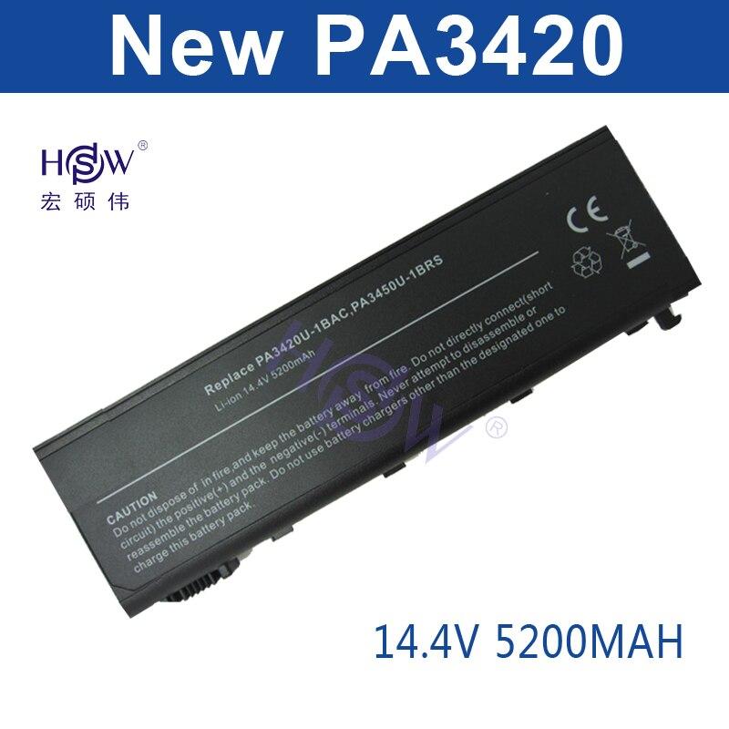 HSW batterie d'ordinateur portable Pour Toshiba PA3420 PA3450 PABAS059 TS-L20/25 Equium L100 L20 Satellite L10 L100 L15 L20 L25 L30 bateria akku