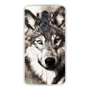 Image 5 - Caixa do telefone Para LG G3 TPU Silicone Macio Gato Bonito Flor Pintado Tampa Traseira Para LG G3 D850 D851 D855 caso