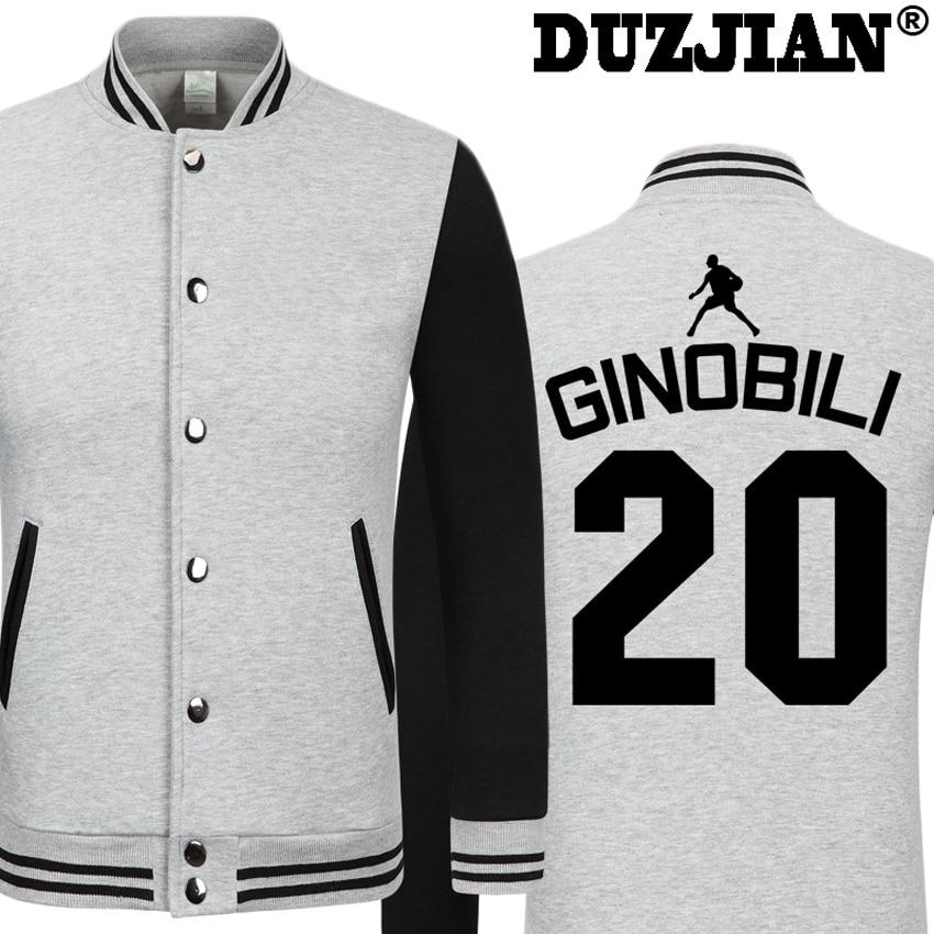 DUZJIAN Spring new Spur Manu Ginobili casual font b jacket b font cheap men winter font