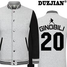 DUZJIAN Spring new Spur Manu Ginobili casual jacket cheap men winter jackets male coat boys jacket
