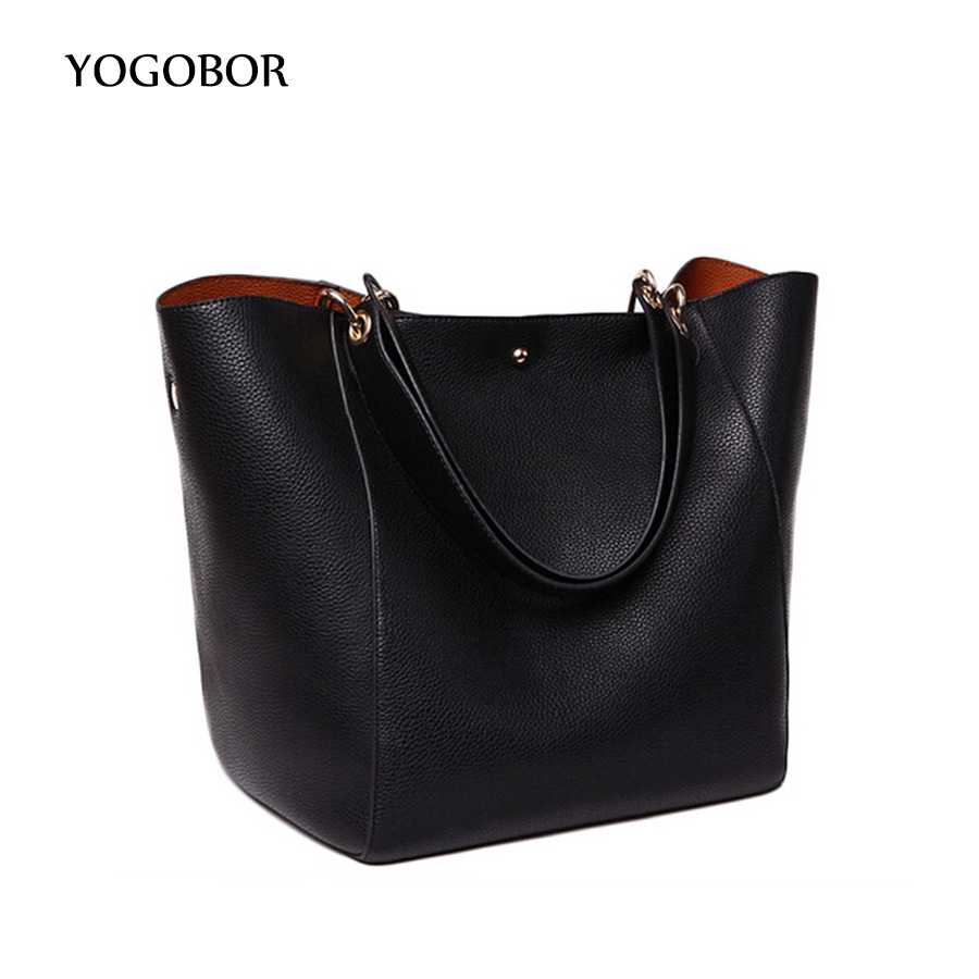 ФОТО 2017 Women Handbag Famous Brand Shoulder Bags Solid Designer Handbags High Quality Ladies Hand Bags Women Tote Big Female Bag