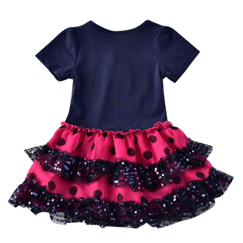 novatx 2-6T Bawełna w paski krótkie sukienki dla dzieci kreskówka - Ubrania dziecięce - Zdjęcie 4