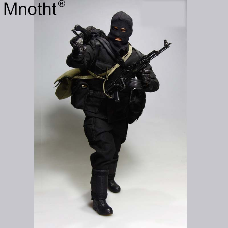 Mnotht VH1044 1:6 Bank Robbers Set Suit Toys Male Clothes Accessory Model for 12inch Soldier Action Figure Without Head Body m3n