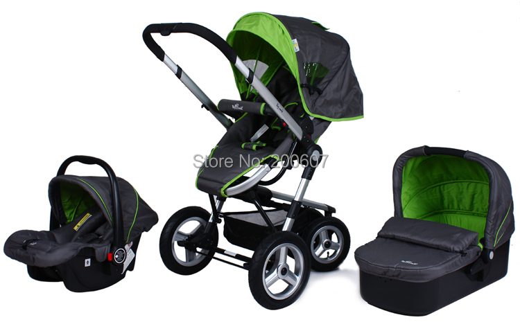 Pushchair Pram With Car Seat New Tinyworld Travel System Baby Stroller With Air Wheels