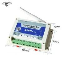 S262 GPRS gps SMS, регистратор данных Беспроводной GSM контроллер удаленного 4 аналоговых Вход 1 Цифровой Реле Выход Температура сигнализации Систем