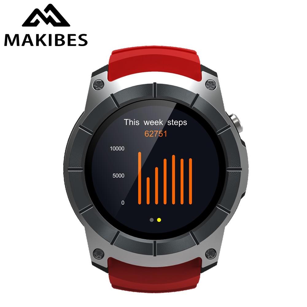 En Stock Makibes G05 Hommes de GPS 500 mah Montres Couleur Écran Smart Montres multi-sport Réponse appels Support SIM TF carte Bluetooth