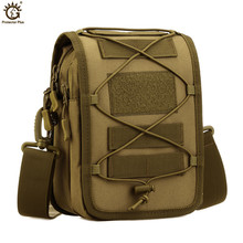 купить Military Tactical Messenger Bag Shoulder Nylon Outdoor Sport Fishing Camping Crossbody Mutil-function Molle Pouch дешево