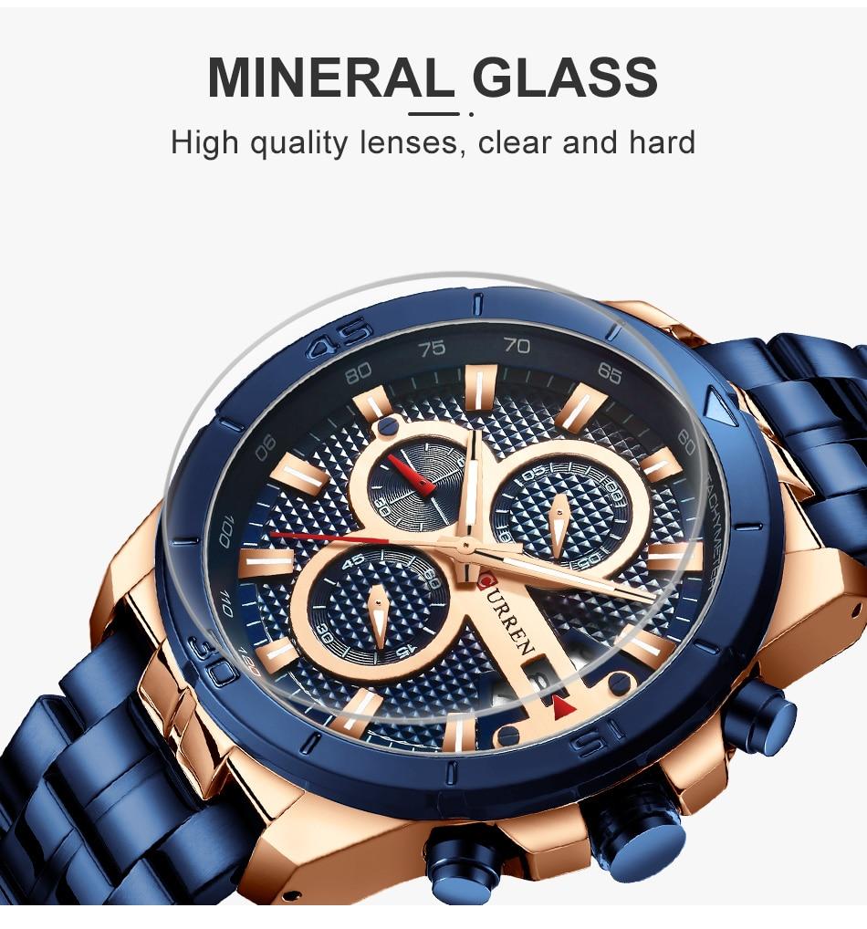 HTB1.OUbU9zqK1RjSZFHq6z3CpXaL CURREN Men Watch Luxury Watch Chronograph