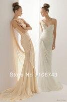 Livraison gratuite 2016 nouvelle mode champagne longue gaine conception robes Formelle sexy Élégant parti mariages Robes de mariée