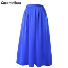 Cocominibox Women's Solid Pockets Poplin Tulle Skirt Lightweight High Waist Beach Wear