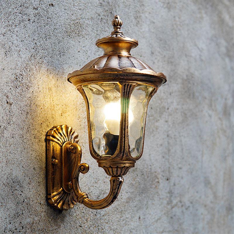 Retro lampada da parete coperta e27 alluminio materiale di vetro applique da parete d'epoca ha condotto la luce scale led applique da parete luce per la casa - 3